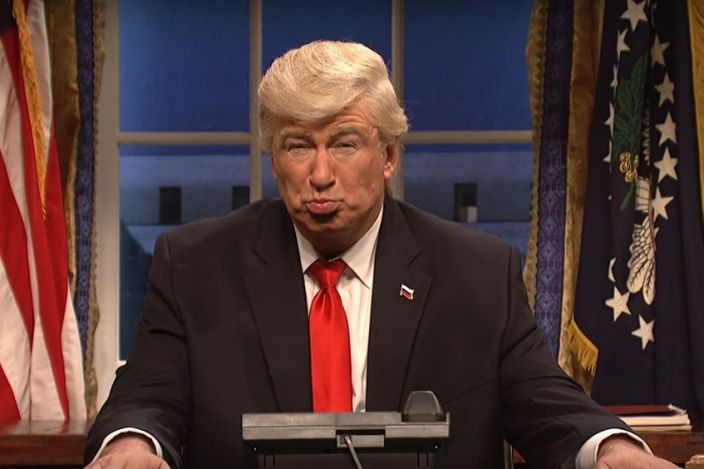 Alec Baldwin as Donald Trump (Credit: NBC)
